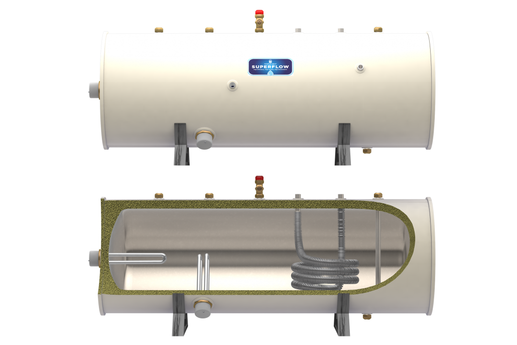 Horizontal Indirect Unvented Cylinder